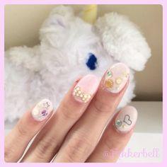 ♡Shell&ribbon nail