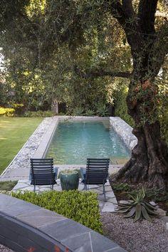 A Pasadena garden mixes fresh and modern design with a rustic style #backyarddesign