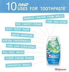 toothpaste, other uses