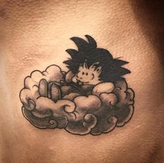 Kid Goku On Nimbus Tattoo
