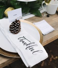 Thanksgiving table setting | thankful