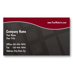 Accounting Business Cards Templates