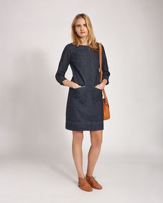 Women's Hiro Denim Dress in Denim - TOAST