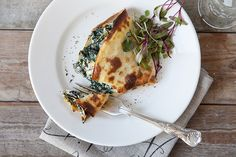 These spinach and ricotta pancakes will definitely hit the spot.
