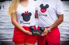 Pregnancy announcement photos. Disney themed.