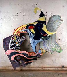"""Frank Stella modern Sculpture artwork """"The Pequod meets the Bachelor"""" Frank Stella, Stella Art, Op Art, Modern Sculpture, Sculpture Art, Post Painterly Abstraction, Cardboard Sculpture, 4th Grade Art, New York Art"""