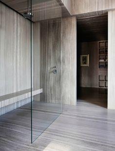 Minimalist bathroom.