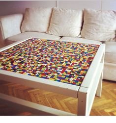 Lego table!!!! Would love to make one!!!