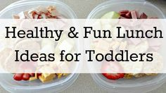 Healthy & Fun Lunch Ideas for Toddlers