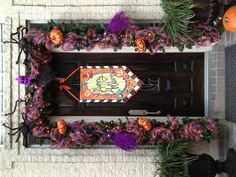 My Halloween Garland!! I just live it I don't want to take it down!!