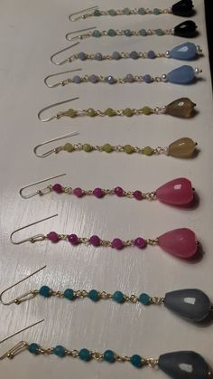 Orecchini lunghi Agata e perla barocca di LArteDeiParticolari