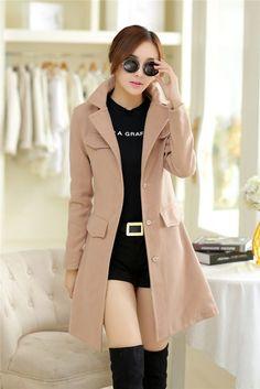 7059635f2 Moda Abrigos Mujer casaco feminino Casacos De Inverno Sobretudo Femininos  mulheres Plus Size outono Inverno casaco