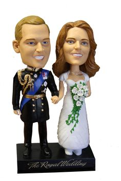 Celebrity Bobbleheads:William and Kate The Royal Wedding Princess Kate, Princess Zelda, Disney Princess, William Kate, Prince William, Wacky Wobbler, Gifts For Hubby, Bobble Head, Dolls