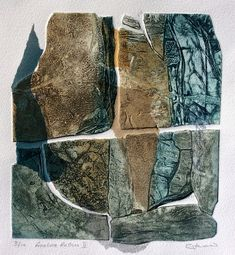 Collagraph with chine collé. Collages, Collagraph Printmaking, Collage Art Mixed Media, Sketchbook Inspiration, Modern Art, Abstract Art, Illustration Art, Art Prints, Artwork