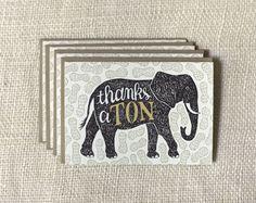 Note Card Set - Thanks A Ton