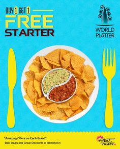 Eat healthy, Feel healthy!   Beat the boring #Mondays with the #delicious #delights @ your World Platter. #free #coupons on every use transaction via Fastticket.in !   Visit www.fastticket.in to know the #deal