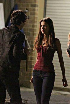 Nina Dobrev as Elena Gilbert in The Vampire Diaries season 1