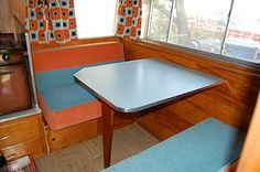 How to build a cool camper table! This is a great website detailing restoration