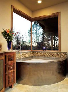 Stainless Steel Corner Bath