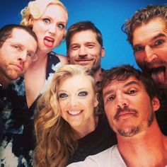 Celebrity at Comic-Con - selfie with his Game of Thrones buds, including Gwendoline Christie, Natalie Dormer, and Nikolaj Coster-Waldau Jack Gleeson, Matthew Lewis, Bran Stark, Pedro Pascal, Kit Harrington, Jon Snow, Richard Madden, Natalie Dormer, Khal Drogo