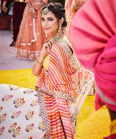 Unique Bridal Lehenga designs that is every Bride's pick in Indian Dresses, Indian Outfits, Indian Clothes, Mehndi Outfit, Yellow Lehenga, Indian Bridal Fashion, Bridal Lehenga, Lehenga Choli, Lehenga Blouse