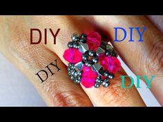 #DIY BIJUTERIA - ANEL PINK - YouTube