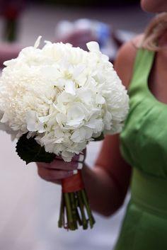 White Hydrangea Bouquet at the Hobbs Building by Blue Bouquet, www.bluebouquet.com