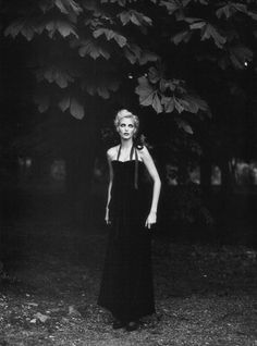 Black and White Photography of Nadja Auermann by Patrick Demarchelier