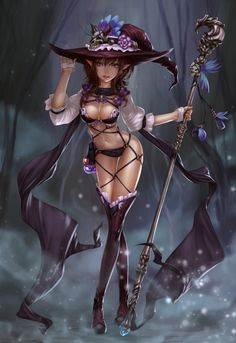 Witch, MagnaLeon ML.e on ArtStation at http://www.artstation.com/artwork/witch-843e65f0-7a98-4a0e-bf76-5b94160dbc8f