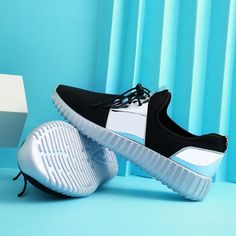 Buy Men&women Casual Shoes Couple Air Mesh Glossy Summer Fashion Breathable Durable Outdoor Lace-Up at Wish - Shopping Made Fun I Love My Shoes, Only Shoes, Me Too Shoes, Sneakers Looks, Best Sneakers, Shoes Sneakers, Trendy Shoes, Casual Shoes, Baskets
