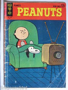 Vintage-Collectible-Gold-Key-Comic-Book-Peanuts-1-VG-Charlie-Brown-Snoopy