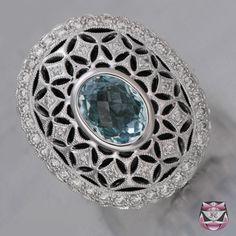 Rings - Art Deco Aqumarine Ring