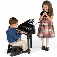KIDS 37 Key Piano TOY MUSICAL Record Playback 8 Rhythm Background Music Stool