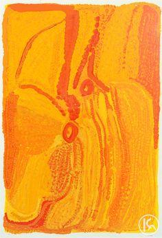 """Itjantjarra"" by Eubena Nampitjin 70cm x 102cm WAS $7,700 NOW $5,000"