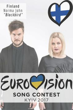 """Eurovision Song Contest Finland – """"Blackbird"""" By Norma John Eurovision 2017, Long Time Friends, Blackbird, Pop Music, Finland, Indie, Party Ideas, Songs, My Love"""