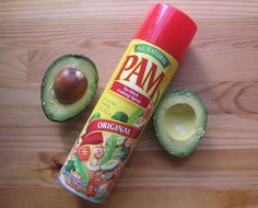 Spray avocado with Pam to prevent browning - I do this all the time..it really works.