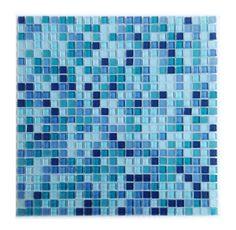"Petite 0.38"" x 0.38"" Glass Mosaic Tile in Royal Blue"