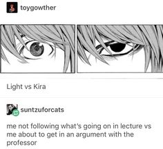 Death Note デスノート, Death Note Funny, Light Yagami, L Lawliet, Funny Memes, Jokes, Def Not, A Silent Voice, Tumblr Posts