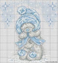 <3 cross stitch pattern - Tatty Teddy