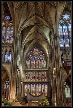 Art gothique vitraux rosace et lancette nord de la - Saint maclou chartres ...