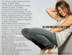 Jillian Michaels diet tips