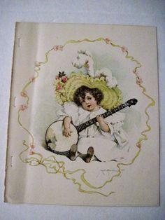 Precious 1897 Maud Humphrey Drawing of a Child  (Humphrey Bogart's Mother)