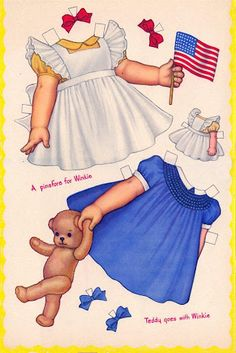 SLEEPING PAPER DOLLS  Whitman Publisher Artist Queen Holden 2 of 8