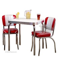 Beautiful Channel Back Chair U0026 Table Dinette Set For 2