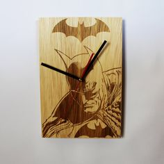 Check out this item in my Etsy shop https://www.etsy.com/listing/499111498/batman-wooden-wall-clock-gift-for