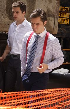 Photos of Ed Westwick and Leighton Meester on the Set of Gossip Girl | POPSUGAR Celebrity