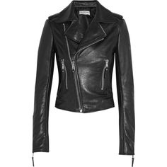 Balenciaga Textured-leather biker jacket ($1,935) ❤ liked on Polyvore featuring outerwear, jackets, leather jacket, balenciaga, biker jacket, moto jacket, motorcycle jacket, asymmetrical zip jacket, biker jackets and asymmetrical zipper jacket