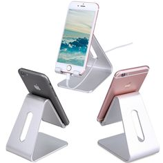 Universal Aluminum Metal Mobile Phone Tablet Desk Stand Holder For iPhone 6 6s plus Huaiwei Xiaomi Tablets Holder Stand
