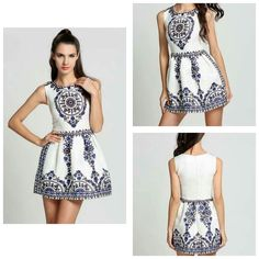 Beautiful white dress for women Material polyester  Size small to XL  Price 1200