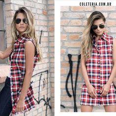 #coleteria in the city #citycollection #timessquare   vermelho #colete #vestido www.coleteria.com.br